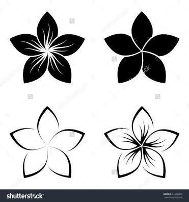 Image Result For Frangipani Line Drawing Hawaiiantattoos Hawaiian