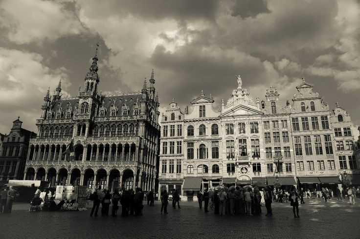 Grote Markt or the central square in Brussels Belgium.