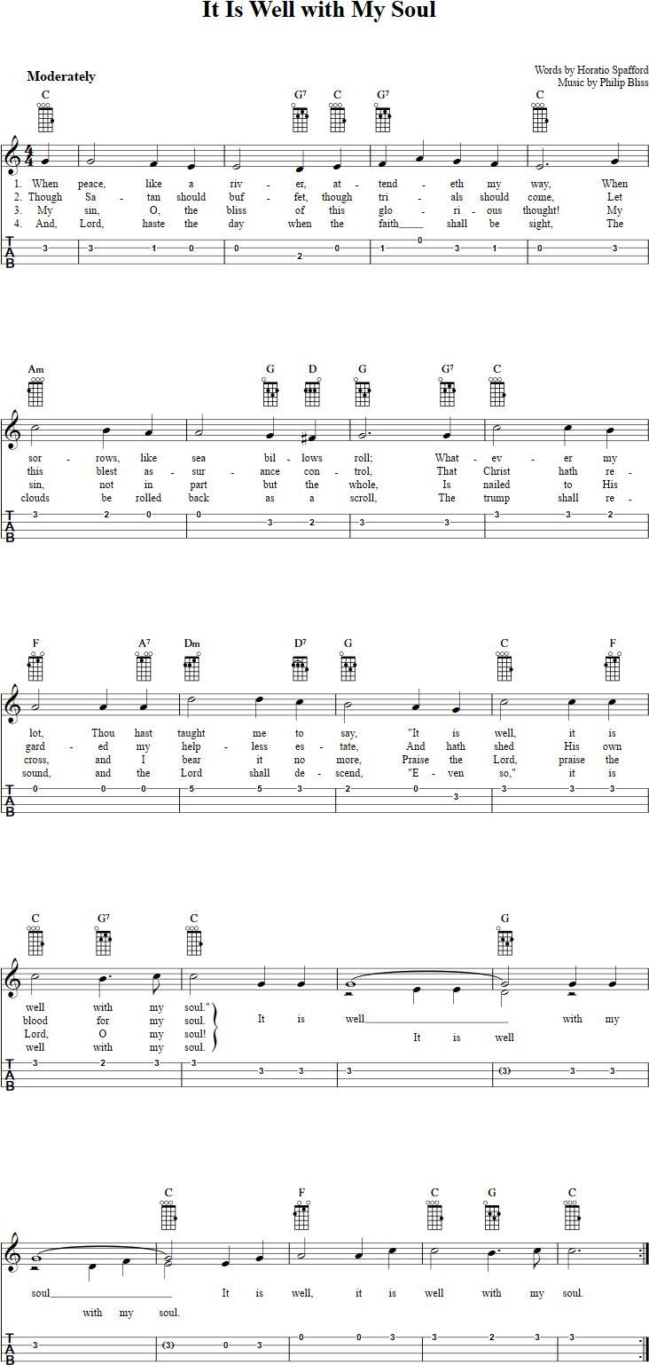 161 best ukulele images on pinterest ukulele tabs ukulele songs it is well with my soul ukulele tab hexwebz Gallery