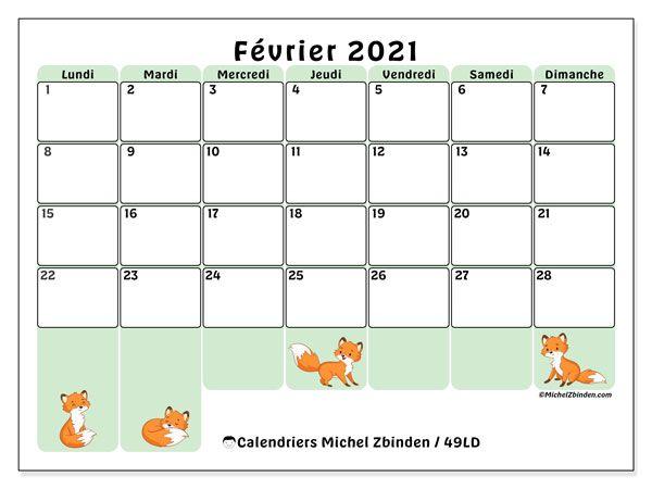 "Calendrier Juin 2021 A Imprimer Calendrier ""49LD"" février 2021 à imprimer en 2020 | Calendrier"