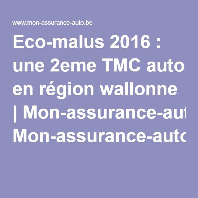 Eco-malus 2016 : une 2eme TMC auto en région wallonne | Mon-assurance-auto.be