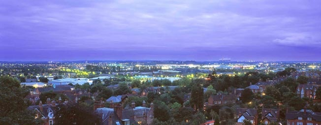 The view across Nottingham