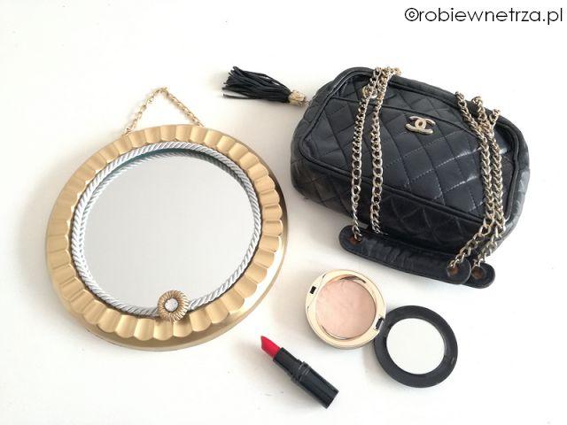 Złote lustro DIY, gold mirror diy