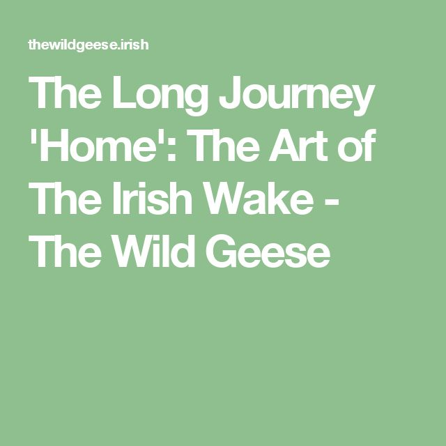 The Long Journey 'Home': The Art of The Irish Wake - The Wild Geese