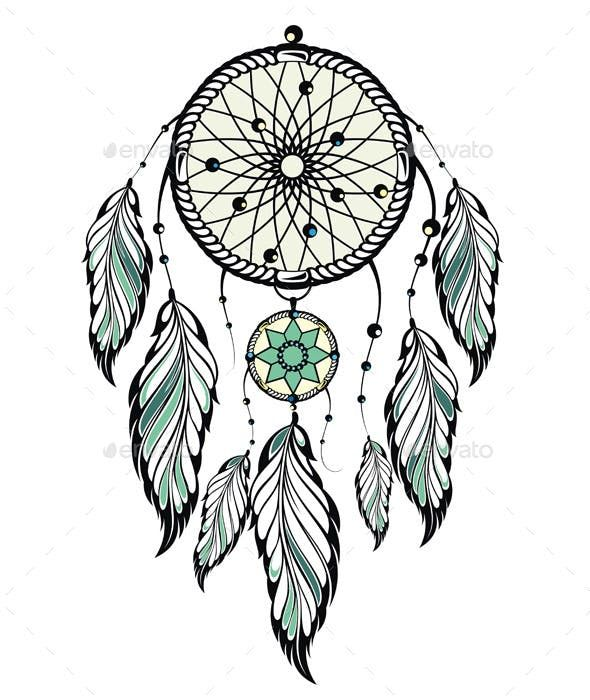 indian dream catcher by
