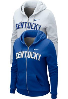 NIKE TEAM SPORTS : University of Kentucky Women's Full Zip Hooded Sweatshirt - Nike : University of Kentucky Bookstore