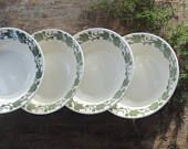 Royal China English Ivy Dessert Bowls Set of 4 Rustic Modern Replacement China