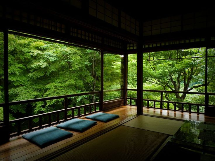 Zen and serenity feel your worries wash down that with some tea tea and meditation room ruriko in temple