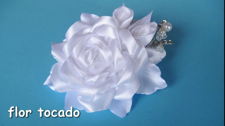 DIY - Flor tocado nina de comunion  - Flower headdress communion girl - YouTube