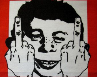 madSpy vs. Spy paperback books | Printed Patch - Large Back GET MAD - Alfred E Neuman and Daddyo Fattyo ...