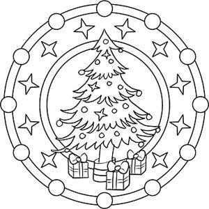 Mandala Malvorlage zu Weihnachten