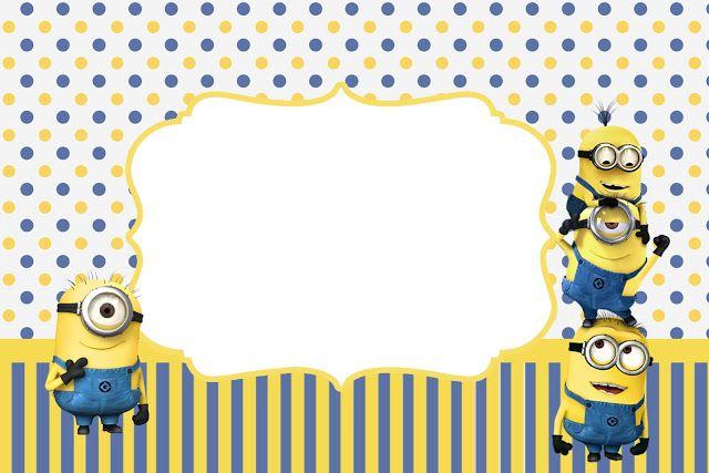 Minions: invitaciones para imprimir gratis. - Ideas y material gratis para fiestas y celebraciones Oh My Fiesta!