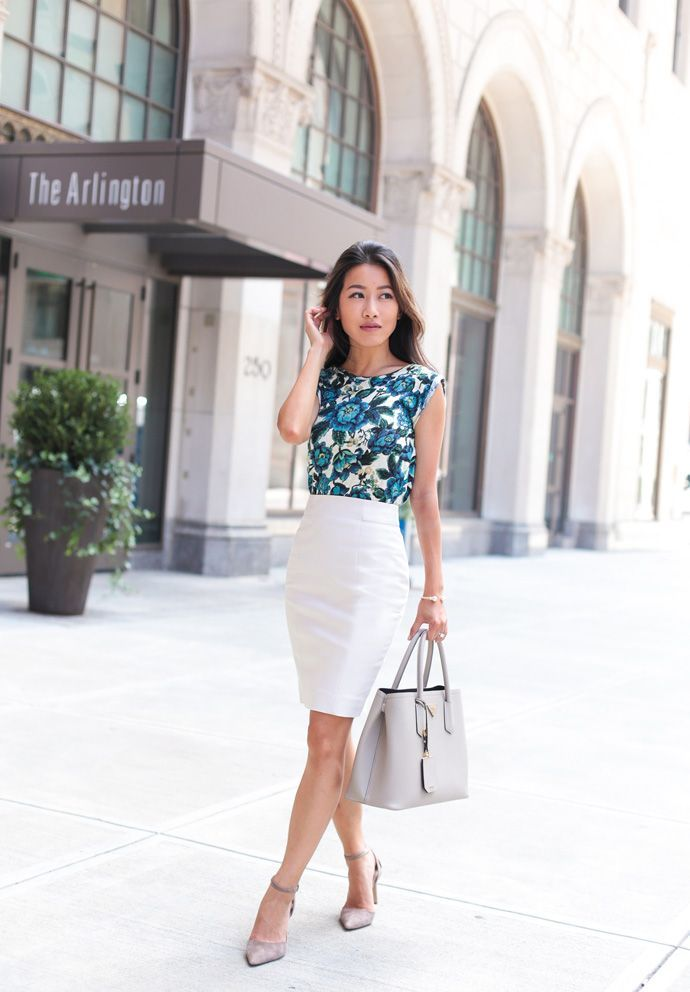 summer work outfit | Skirt outfits modest, Pencil skirt