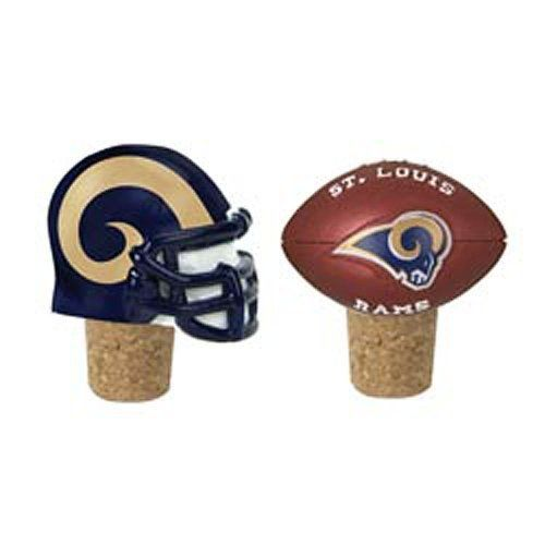 St. Louis Rams Bottle Corks - set of 2 by Evergreen Enterprises, Inc. $14.83. One helmet, one football. Great for yourself or as a gift. Set of 2 bottle corks. Features your favorite team's logo. Each set of 2 corks is topped with one helment and one football featuring your favorite NFL team. They display official team colors and logo of your favorite team.