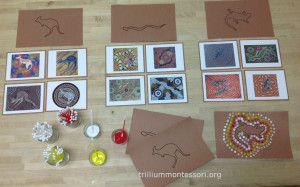 Australia- Aboriginal art dot painting