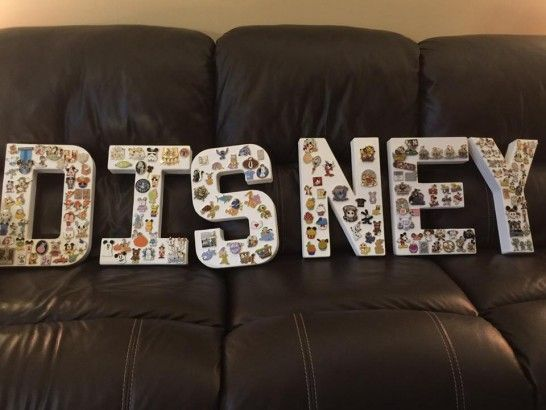 Canvas Letters + Disney Pins = best wall display ever!