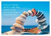 BRUNNEN VERLAG GmbH - Auch aus Steinen, die Dir in den Weg gelegt werden, kannst Du etwas Schönes bauen. Erich Kästner