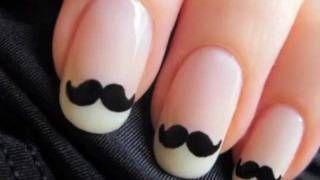 (DIY) Moustache Nails: Moustaches Nails, Nails Art, Nailart, Nails Design, French Manicures, Like A Sir, Nailsart, Fingers Nails, Mustaches Nails