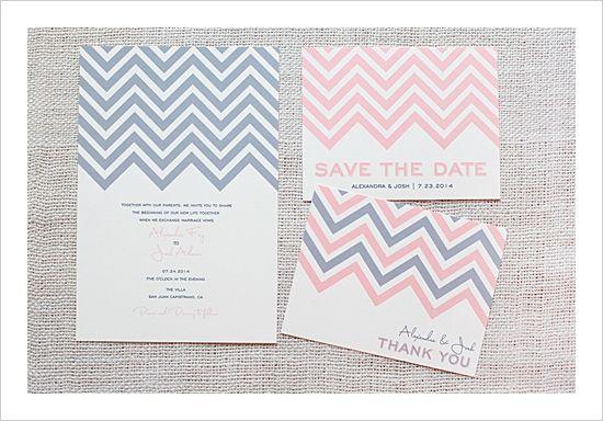 Chevron Stripe Free Printable Wedding Invitation Suite - The Wedding Chicks by Rocio Bacino