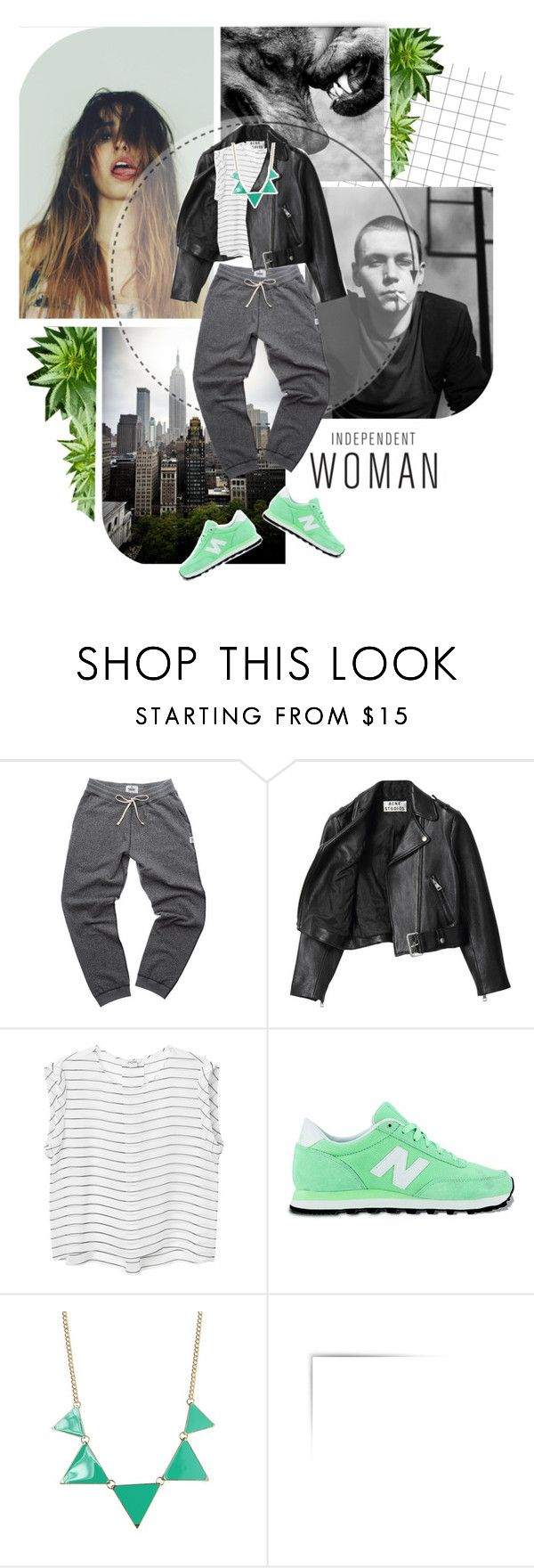 """Untitled #84"" by lady-in-black666 ❤ liked on Polyvore featuring Acne Studios, Monki and New Balance"