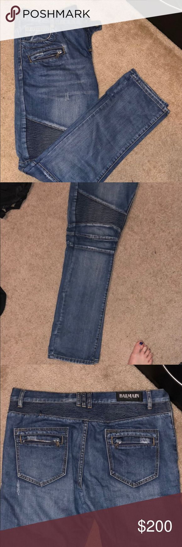 Balmain biker jeans Great condition, just never wear them! No stains or rips! Balmain Jeans Skinny