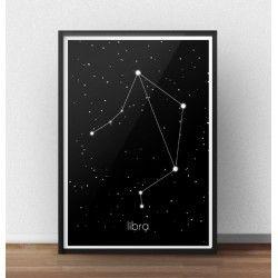 Plakat z gwiazdozbiorem Wagi (Libra)  http://scandiposter.pl/plakaty/148-plakat-ze-znakiem-zodiaku-waga.html