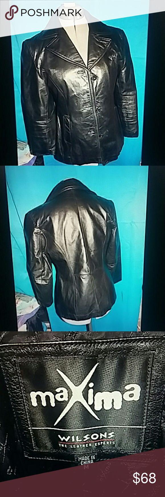 Vintage ladies leather blazer made by Wilson's Quality leather blazer Wilsons Leather Jackets & Coats Blazers