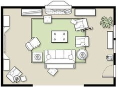 Maximize your usage of space in large living rooms, while still creating a cozy atmosphere