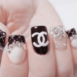 7 best nail art images on pinterest bling nails crystal nails if you like black and white colour combinations than you should try it on your nails too check out below some black and white nail art design ideas chose prinsesfo Choice Image
