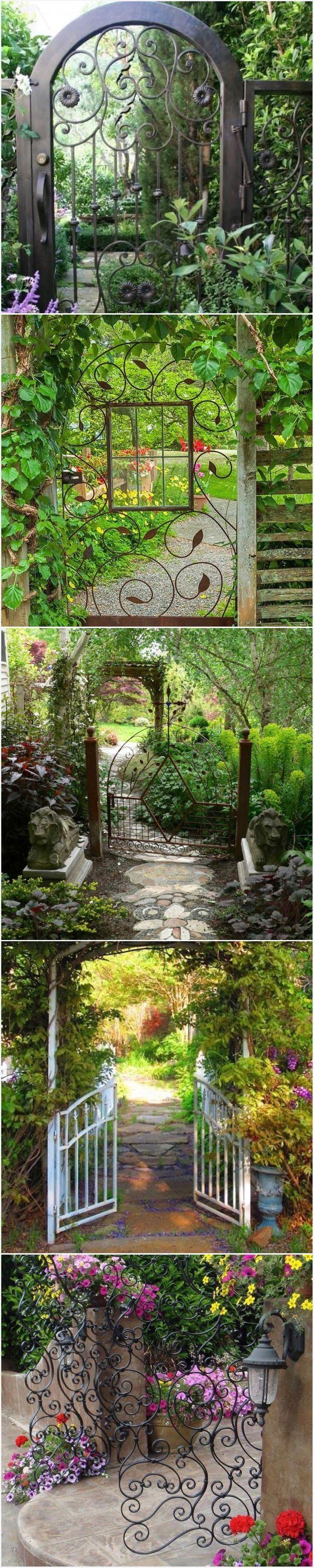 Garden Path and #GardenGates #gates #gardens