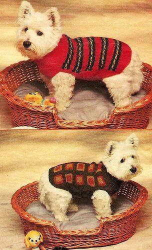 Knitting Pattern For Westie Dog : +1000 imagens sobre Dog Knits no Pinterest Camisolas do ...