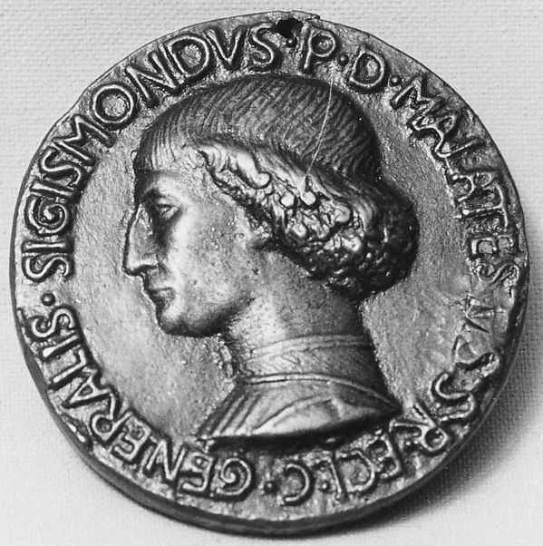 Sigismondo Malatesta (1417-1468) as Captain of the Roman Church. Medalist: Matteo de' Pasti, 1446, Italian