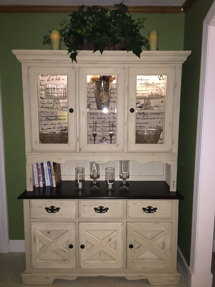 Redone Hutch With Annie Sloan Chalk Paint In Old Ochre And