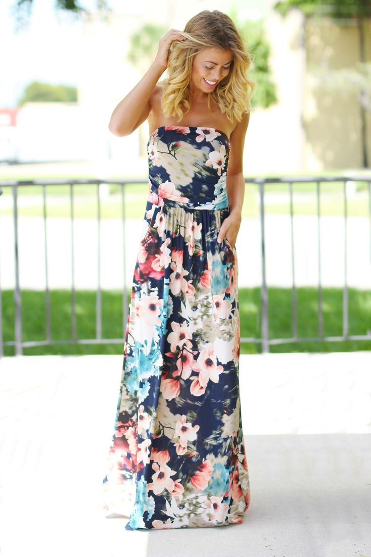 ~~~beautiful navy floral maxi dress!  Click the picture to get started with stitch fix!  The best styling service--get this look in your april stitch fix box :).  Stitch fix spring. Stitch fix summer.  #sponsored