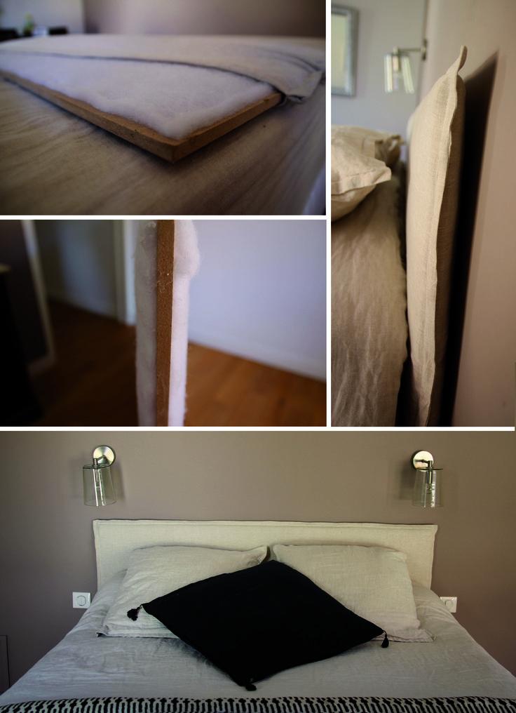 diy t te de lit lit diy pinterest diy and crafts. Black Bedroom Furniture Sets. Home Design Ideas