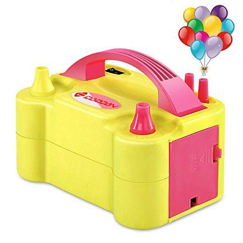 IDAODAN Electric Balloon Pump, Portable Dual Nozzle Electric Balloon Inflator/Blower for Decoration #IDAODAN #Electric #Balloon #Pump, #Portable #Dual #Nozzle #Inflator/Blower #Decoration