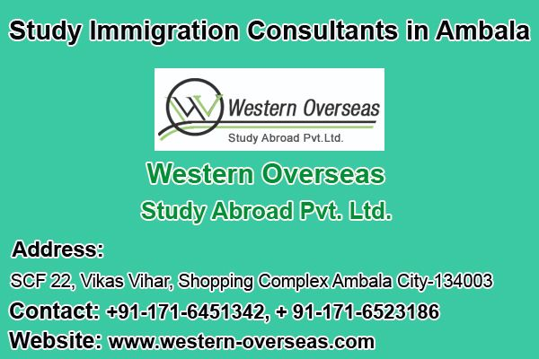 If you are living in Ambala or surrounding regions and aiming to study abroad, then probably you might be planning to rush to a big city. It is always perceived that big cities offer quality options in every service. This is not absolutely true. Western Overseas Study Abroad Pvt. Ltd. has made things possible in an emerging town of Ambala.