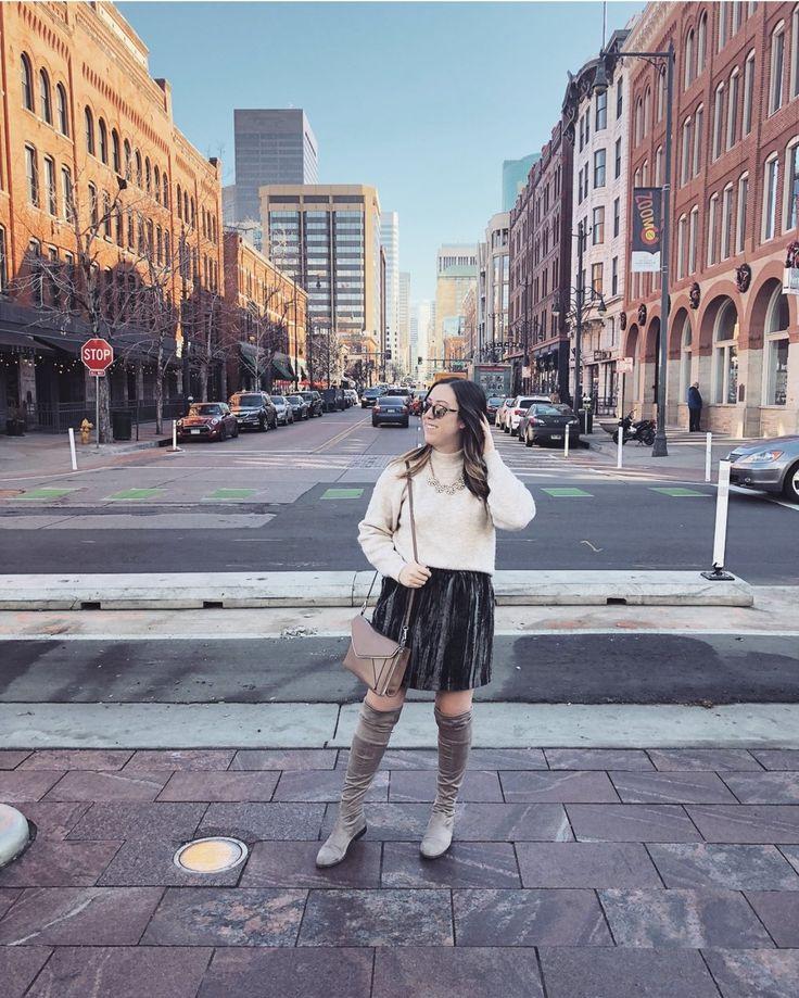 This velvet skirt is my favorite!