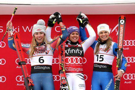 Viktoria Rebensburg Beats Mikaela Shiffrin in a World Cup Giant Slalom