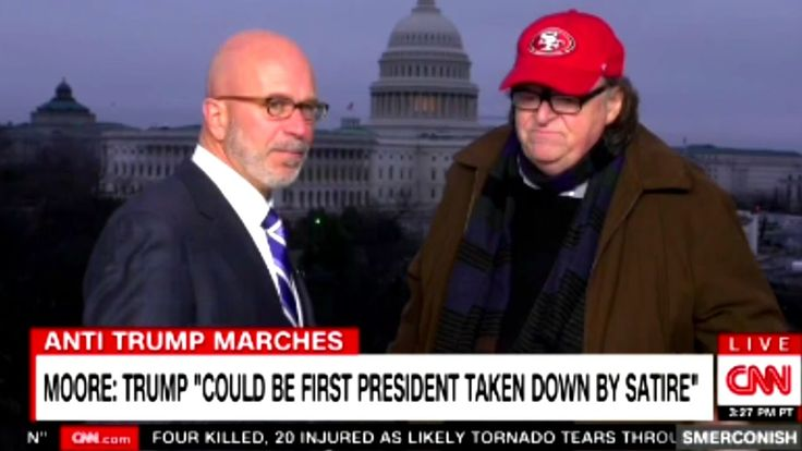 "Michael Moore ""Trump Could Be the First President Taken Down By Satire"""