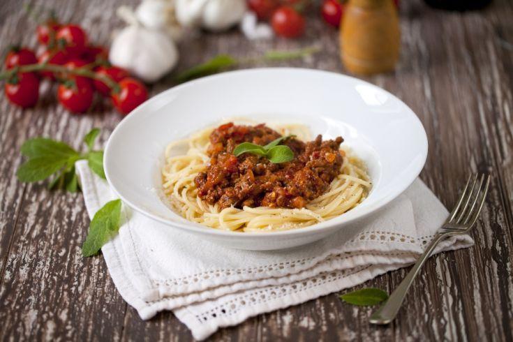 Bolonské špagety s tofu