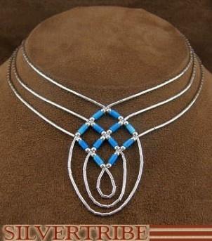 Hand Strung Denim Lapis & Liquid Sterling Silver Basket Weave Necklace LS45D