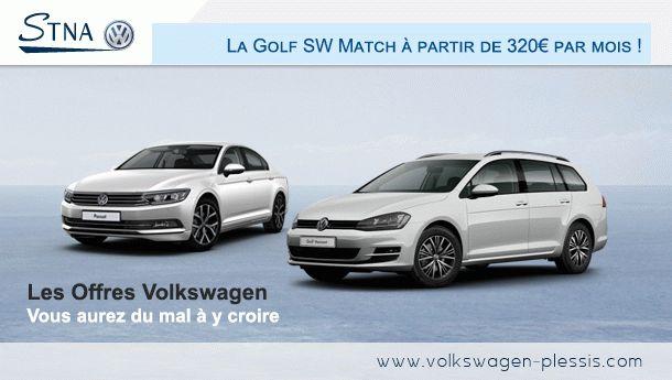 Offres Volkswagen : Golf SW Match à partir de 320euros par mois ! #volkswagen #offres #voitures #automobile #golf