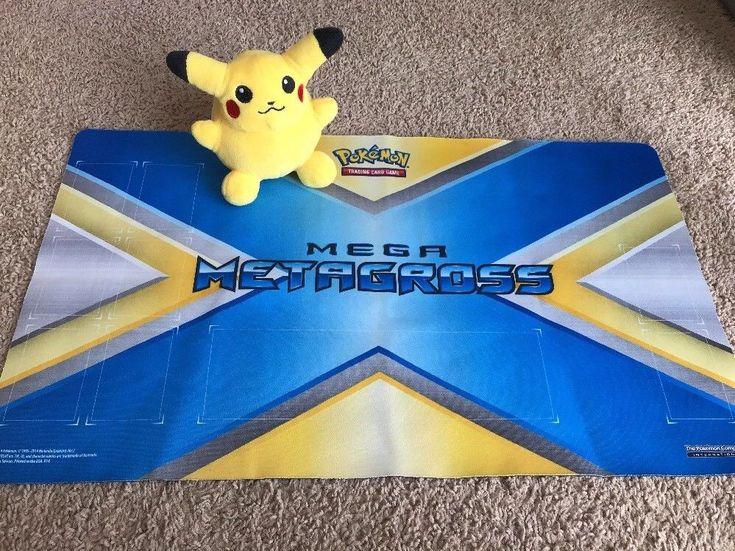 Pokemon Trading Card Game Mega Metagross Play Mat w/ Pikachu Plush #MEGA