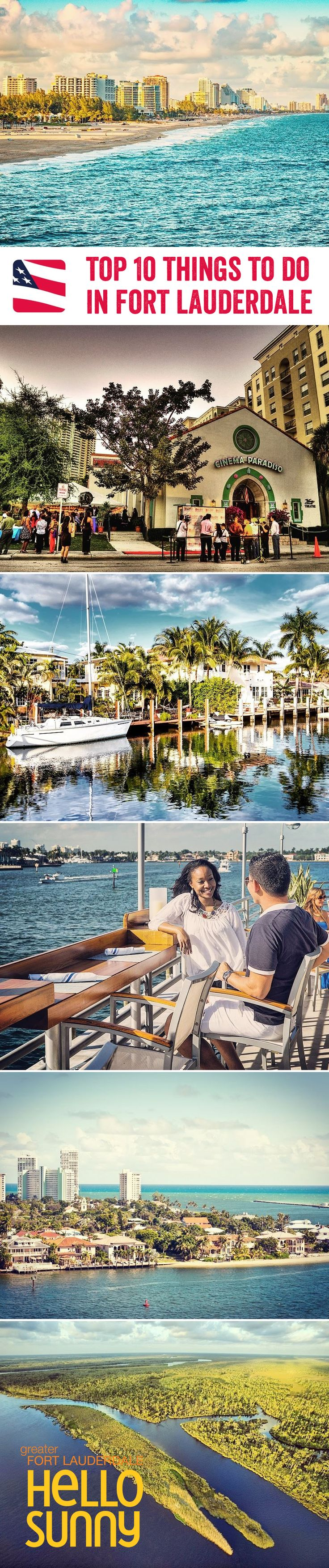 With endless sunshine, a lively atmosphere and so much to do, it's no wonder Fort Lauderdale is a popular holiday spot. From fascinating museums and beautiful parks, to delicious al fresco restaurants and the bustling Intracoastal Waterway, here are our top 10 things to do in this fun city
