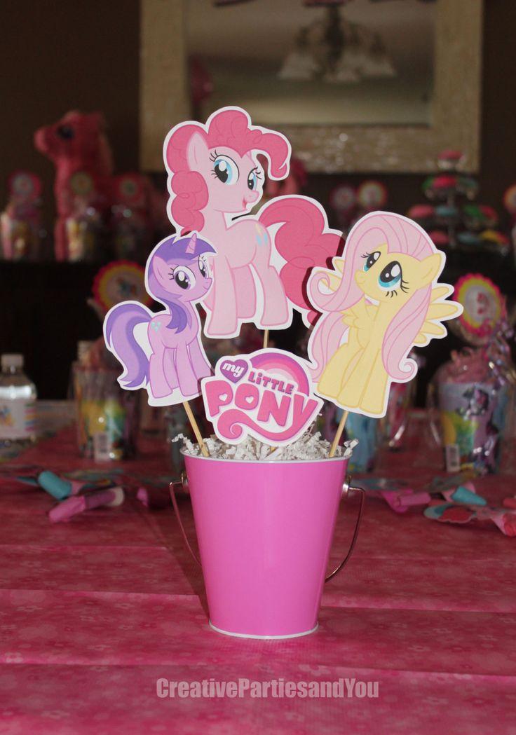 My Little Pony Centerpiece / Pinkie Pie Party / Set of 4 Die Cuts by CreativePartiesandU on Etsy