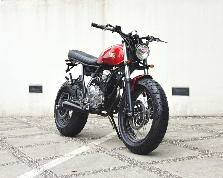 "Racing Cafè: Yamaha Scorpio ""The Red Tracker"" by Studio Motor"
