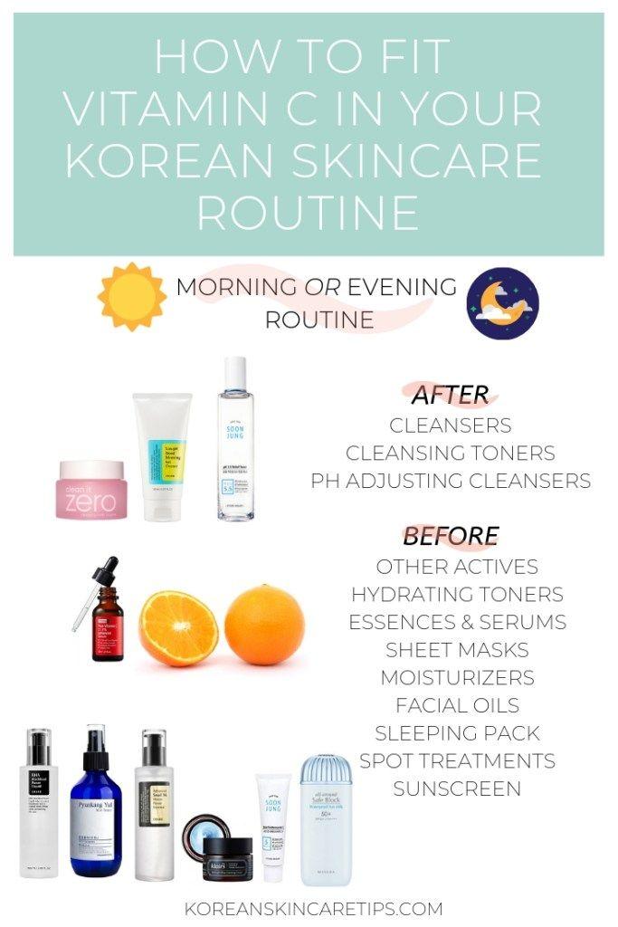 How To Use Vitamin C Serum Korean Skincare Routine Korean Skincare Routine Korean Skincare Fading Hyperpigmentation