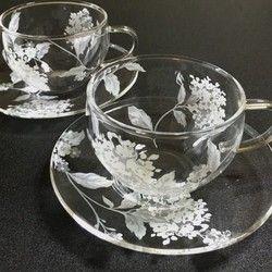 Beautifully tea cup and saucer