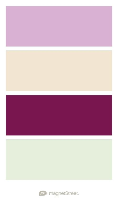 Orchid, Champagne, Sangria, and Mint Wedding Color Palette - custom color palette created at MagnetStreet.com